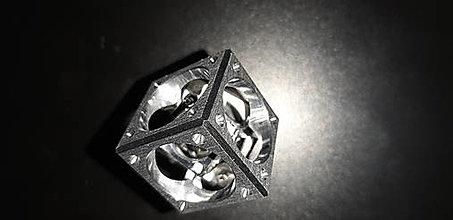 Kľúčenky - kocka v kocke veľká(dural)-klúčenka 2 - 12985197_