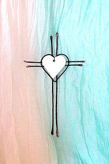 Dekorácie - tepaný krížik na stenu* 24 cm - 12987252_