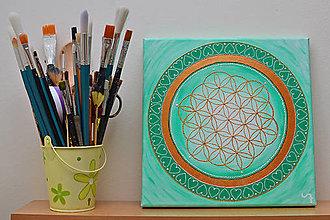 Obrazy - Mandala kvet života - 12989819_
