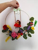 Dekorácie - Kvetinkový veniec - 12992793_