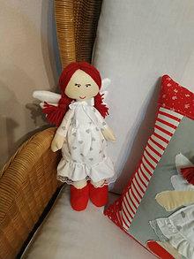 Dekorácie - Anjelik s červenými topánočkami - 12993936_