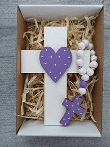 Dekorácie - Set krížik a ruženec - 12991179_