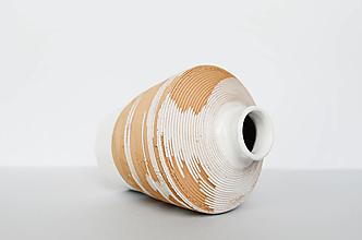 Dekorácie - Biela váza - 12991031_
