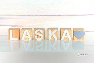 Hračky - Kocky LÁSKA - 12990130_