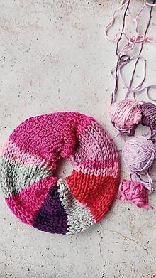 Ozdoby do vlasov - Scrunchie pestro-ružové - 12991240_