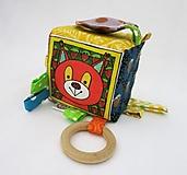 Hračky - Úchopová kocka - veverička - 12993204_