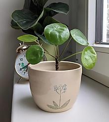 Nádoby - keramický kvetináč  (nezábudka #2) - 12993078_