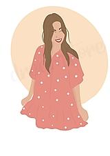 """Grafika - Ilustrácia """"Boheme girl"""" - 12993612_"""