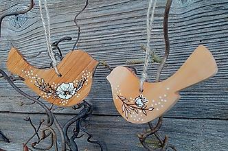 """Dekorácie - veľkonočná závesná dekorácia""""duo vtáčik"""" - 12993797_"""