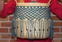 Nádoby - Bohémsky košík z morskej trávy Athéna - 12991573_