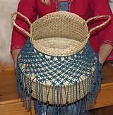 Nádoby - Bohémsky košík z morskej trávy Athéna - 12991584_