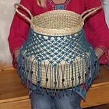 Nádoby - Bohémsky košík z morskej trávy Athéna - 12991586_