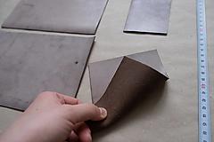 Suroviny - Zbytková koža hnedá patinovaná - 12992590_