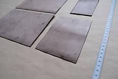 Suroviny - Zbytková koža hnedá patinovaná - 12992594_
