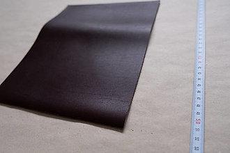 Suroviny - Zbytková koža tmavohnedá - POSLEDNÝ KUS (kus č. 4) - 12993030_