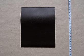 Suroviny - Zbytková koža tmavohnedá hladenica (kus č. 12) - 12993258_