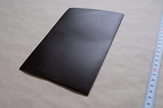 Suroviny - Zbytková koža tmavohnedá hladenica - 12993267_