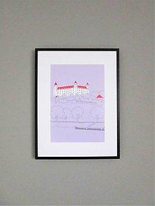 Grafika - Bratislavský hrad (print) - 12992307_