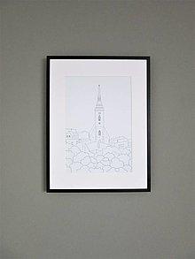 Grafika - Dóm sv. Martina ČB (print) - 12994666_