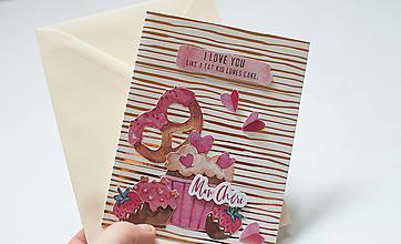 """Papiernictvo - Pohľadnica """" Mon Chéri """" - 12990701_"""