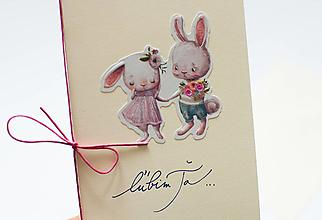 Papiernictvo - Pohľadnica ľúbim Ťa - 12991281_