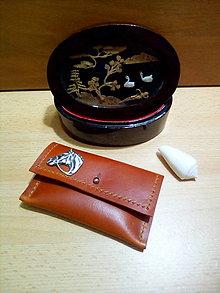 Peňaženky - Kožená peňaženka - škoricová, ozdoba - kôň - 12991088_