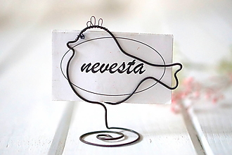 Darčeky pre svadobčanov - vtáčik na menovky - 12992142_