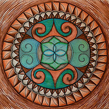 Obrazy - Zemská mandala - 12992046_