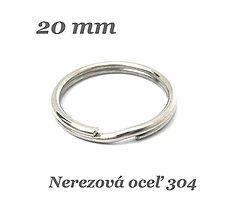 Komponenty - Krúžok na klúče 20mm /M9042/- nerez.oceľ 304 - 12996155_