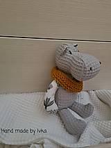 Hračky - Hroch - detská hračka -  možnosť súpravy - 12996322_