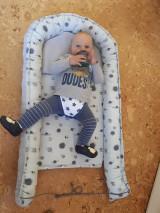 Textil - Hniezdo pre bábätko - hroch a sloník v sivej vafle - 12997720_