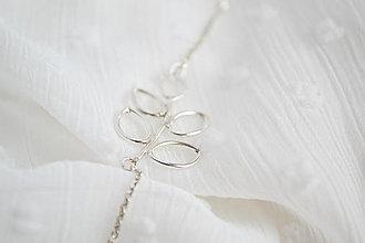 Náhrdelníky - Strieborný náhrdelník - Lístky - 12997953_