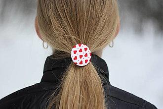 Detské doplnky - Gumičky do vlasov Srdiečka - 12995846_
