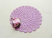 Úžitkový textil - Háčkovaná dečka Orgovánová - 12997160_