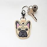 Kľúčenky - Kľúčenka psík buldoček - 12997429_