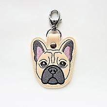 Kľúčenky - Kľúčenka psík buldoček - 12997444_