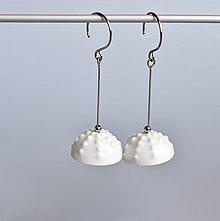 Náušnice - Zrnka ledu porcelánové náušnice - 12999092_