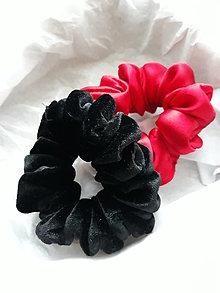 """Ozdoby do vlasov - Set 2 hodvábnych gumičiek do vlasov -""""Flamenco"""" - 12997386_"""
