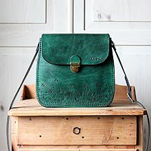 Kabelky - Kožená kabelka Antique leather-green - 12995683_