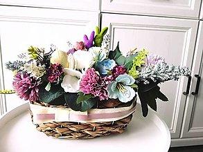Dekorácie - Kvetinový aranžmán - 12995873_