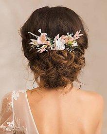 """Ozdoby do vlasov - Kvetinový hrebienok """"potajme"""" - 12999400_"""