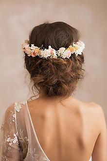 """Ozdoby do vlasov - Kvetinový polvenček  """"srdce ponorené do snov"""" - 12999430_"""