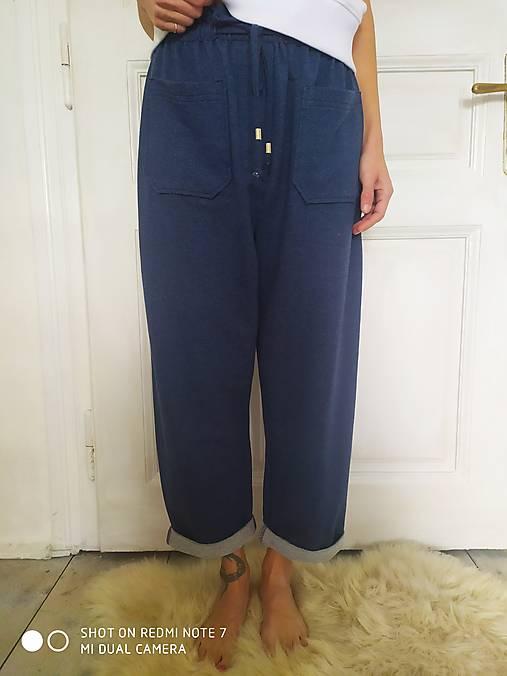 Nohavice - #Modré teplákové nohavice# - 12997159_