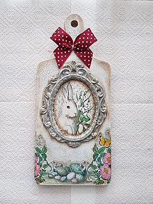 Dekorácie - Veľkonočný vintage lopárik - 12996168_