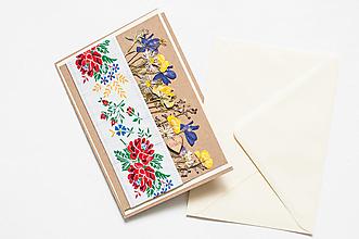 """Papiernictvo - Pohľadnica """" Folková láska"""" - 12999749_"""