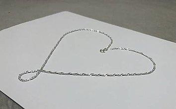 Náhrdelníky - Strieborna retiazka 925, Špirálka - 12998162_