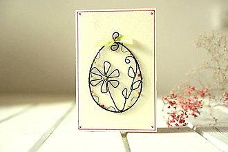 Papiernictvo - Pohľadnica -drôtovaná kraslica - 12997052_