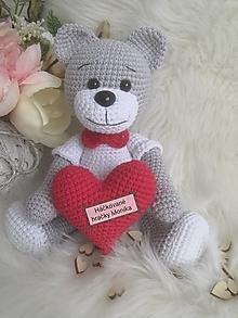 Hračky - Valentínsky macko - 13000058_