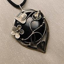 Náhrdelníky - Prívesok s obsidiánom ° GEORGIA ° - objednávka na želanie - 13004195_