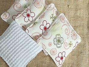 Úžitkový textil - Odličovacie tampóny ,trojvrstvové,sada 7 kusov - 13004687_